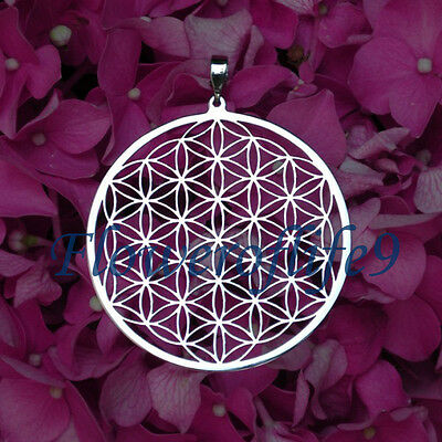 Flower of life pendant  (1 3/4) -  Stainless Steel