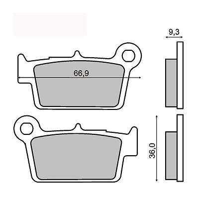 Bremsen Auto & Motorrad: Teile Bremsbeläge Hinten Yamaha Yz 125 2003 2004 2005 2006 2007 Rms 225101450 Ausreichende Versorgung