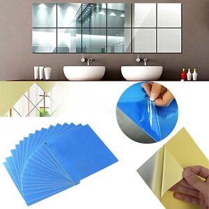 16pcs spiegel mosaik fliesen selbstklebende wand aufkleber dekoration ebay. Black Bedroom Furniture Sets. Home Design Ideas