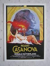 Filmplakatkarte  cinema   Fellinis Casanova   Donald Sutherland