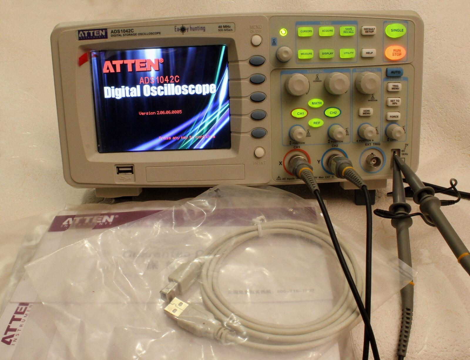 Oscilloscope Numérique Atten ADS1042C 40Mhz 40Mhz 40Mhz 2 Canaux 500Ms S  ventas en linea