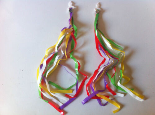 BICYCLE HANDLEBAR STREAMERS red//green//yellow//purple CRUISER BMX KID/'S BIKES