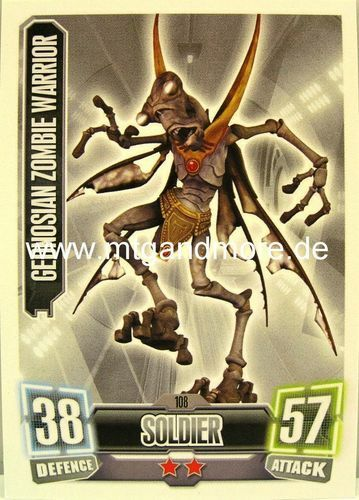 Force Attax série 2 GEONOSIAN zombie warrior #108