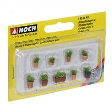 NOCH 14032 H0 1:87 Piante verdi in vasi da fiori piccoli
