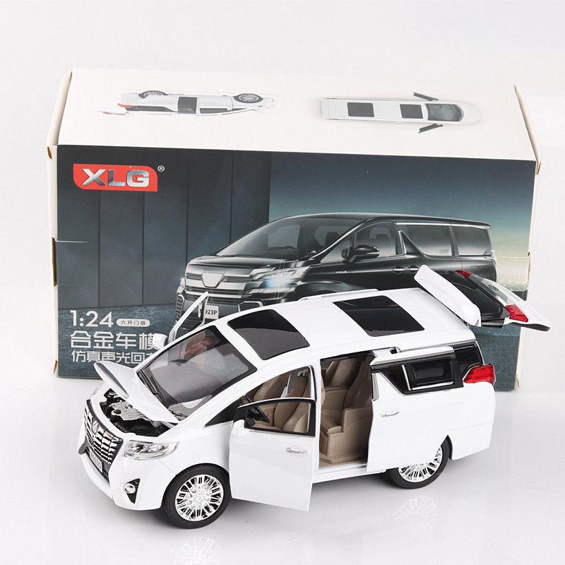 24 skala toyota alphard ein diecast modell auto spielzeug sammlung limousine new in box