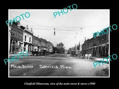 Old Large Historic Photo Of Chatfield Minnesota Postcards Collectibles The Main St & Stores C1900 Mild And Mellow