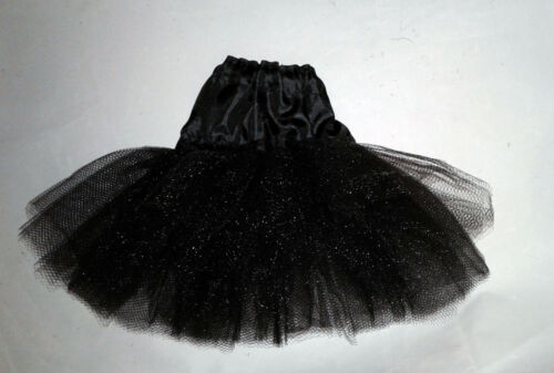 Lot of 2  petti// skirt for Ellowyne wilde and msd bjd Black satin and tulle