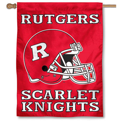 College Flags and Banners Co Rutgers Scarlet Knights Double Sided Flag