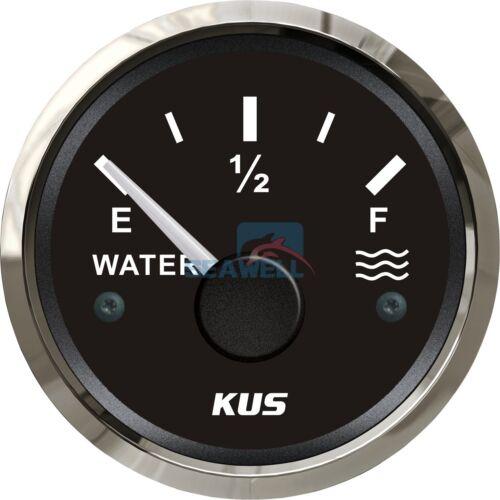 KUS Marine Water Level Gauge Boat Water Tank Level Gauge 12//24V 52mm 240-33 ohms