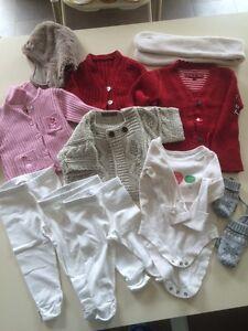 Vêtements, Accessoires Lot Vêtements Fille Hiver 6 Mois Pulls Hauts Pantalon,cadet Roussel....