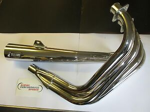 Fits-Suzuki-GS1000G-Vance-and-Hines-chrome-full-street-exhaust-system