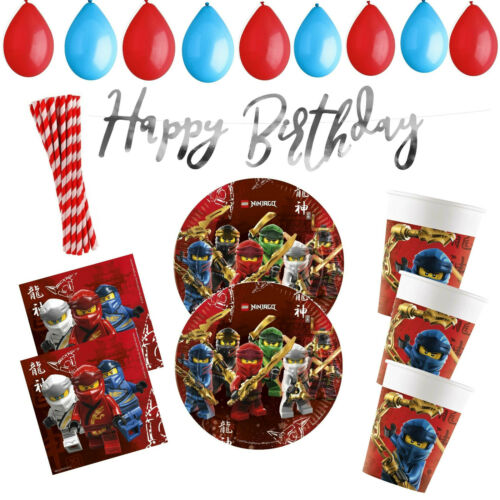 Ninjago Lego Geburtstag Party Deko Set Partyset Geburtstagsdeko Teller Ballon