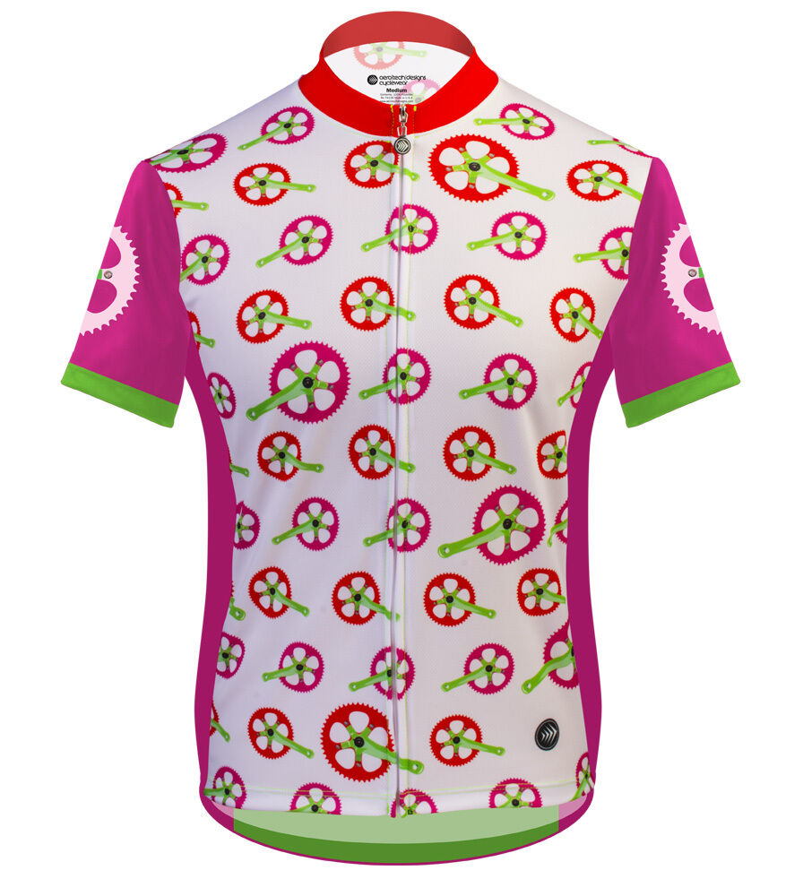 Aero Tech Designs Damenschuhe Cycling Bike Jersey Rosa Strawberry Fields Made in USA