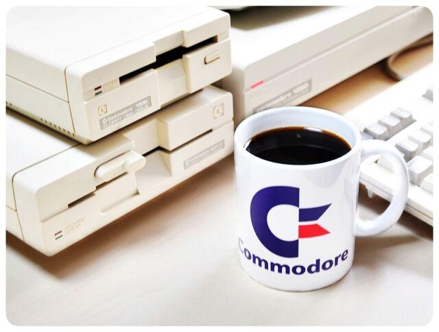 Retro Spaß Becher Commodore C64 C128