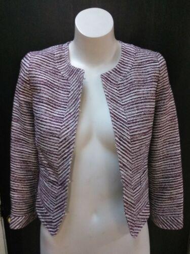 Sz Blazer Republic 109 Women's Op Petite Lined Jacket White Banan Burgundy q0xwOIZT