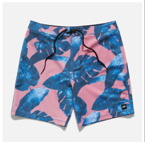 2019-NWT-MENS-BANKS-JOURNAL-ISLAND-FLAIR-BOARDSHORTS-Rose-18-034-out-seam