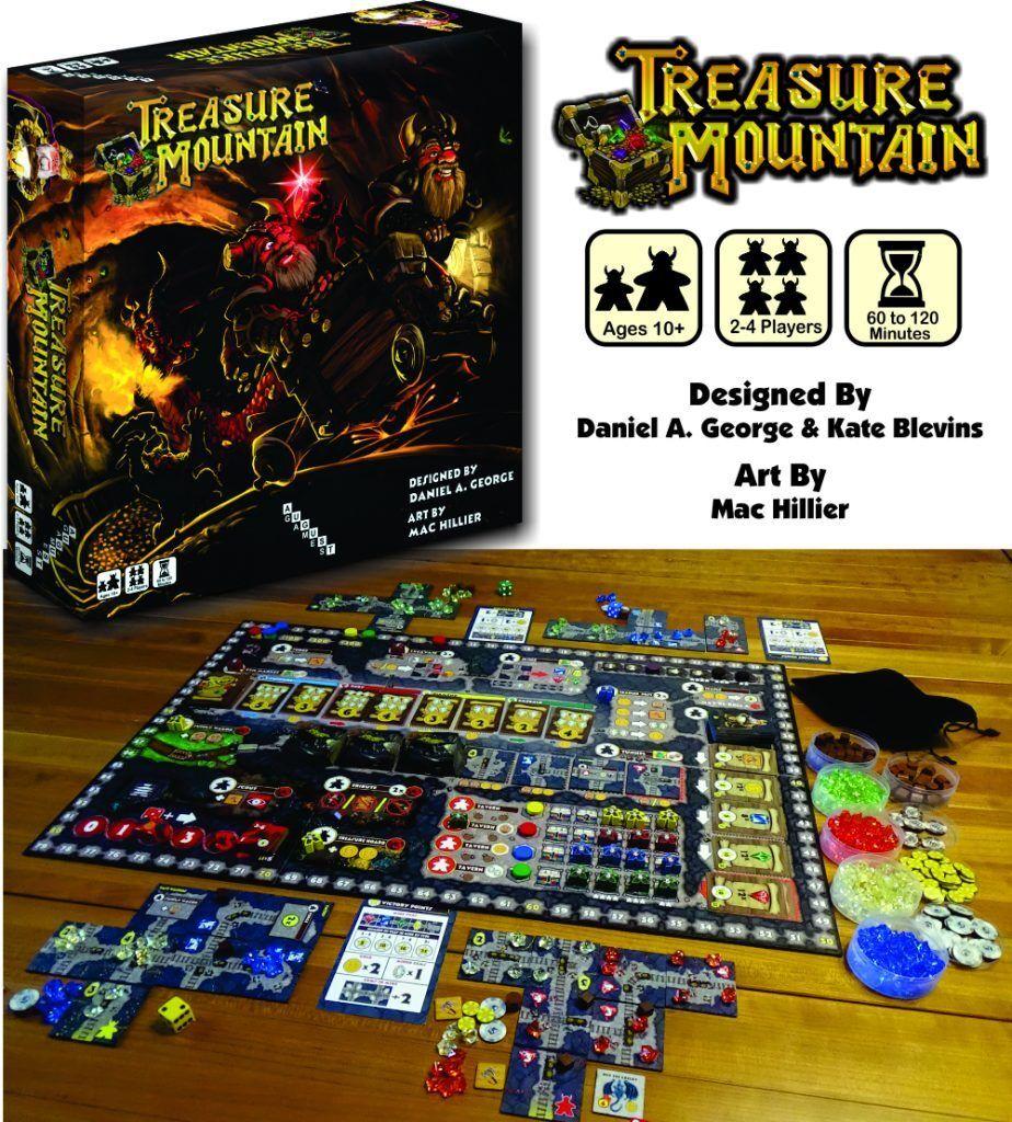 Treasure Mountain Boardgame + Caverns of Gandum Addon + Promos - Kickstarter
