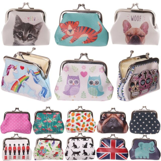 "POUCH SMALL LADIES CUTE CAT /""MEOW/"" TIC TAC COIN PURSE"