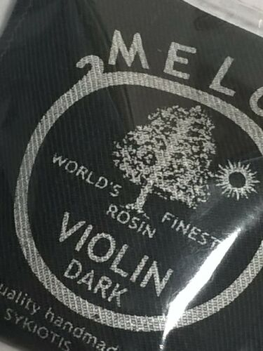 Violin DARK Rosin by MELOS in a pouch cloth lined /'The World/'s Finest Rosin!/'