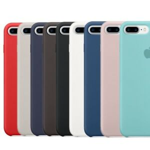 Genuine Official Soft Silicone Case Cover for Apple iPhone X 6 6S 7 ... df897f019