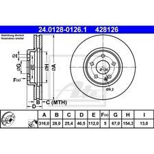 2x BREMBO Bremsscheiben vorne belüftet 316mm 09.7808.11 Mister Auto
