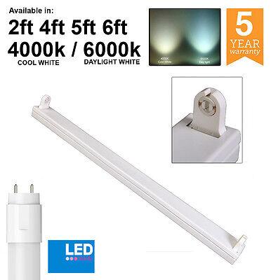 T8 LED Ready Batten Fittings Single, Twin & IP65 2ft 4ft 5ft 6ft - 4000k / 6000k