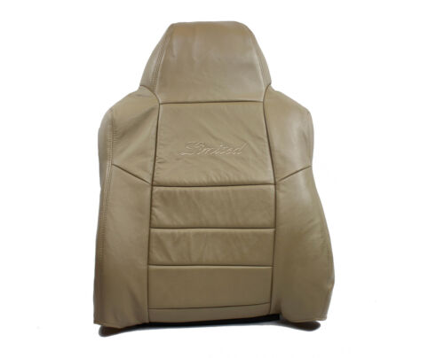 2002 2003 2004 Ford Excursion Limited Driver Lean Back LEATHER Seat Cover Tan