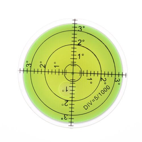 60x12mm precisión disco redondo circular alcohol de la burbuja Nivel de medic Jw