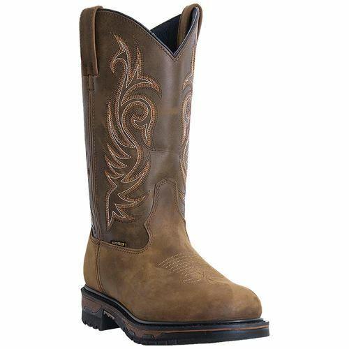 Laredo Men's Hammer Western Cowboy Leather Boots Tan Brown 68112