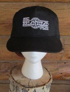 83702d2b78a Image is loading Ski-Brianhead-Utah-Black-Embroidered-Ski -Snowboard-Baseball-