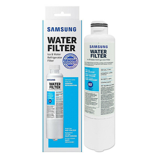 Samsung DA29-00020B HAF-CIN EXP Genuine Fridge Water Filter Fits RS58K6319SL SA