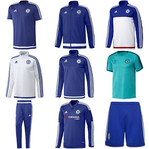 adidas CHELSEA FC TRAINING JACKET T SHIRT SHORTS JUMPERS FOOTBALL ... 5364f15e0