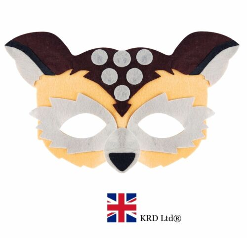 Hibou Masque Safari Jungle Zoo Effrayant accessoire robe fantaisie Femme Garçons Filles UK