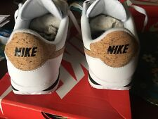 NIB Mens Nike Cortez Leather Premium Sz.12 White/Cork 876974 100