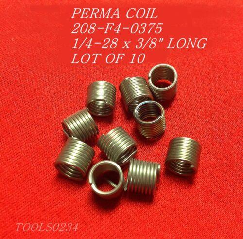 Perma Coil 208-F4-0375 Thread Insert Repair 1//4-28 Lot of 10 USA Fits Heli