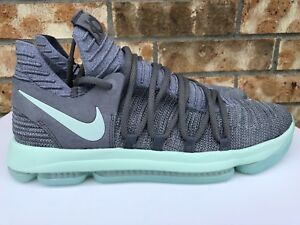 5b729065002c Men s Nike Zoom KD 10 X Basketball Shoes Cool Grey Igloo White Mint ...