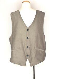 Sovereign-Code-Mens-Size-XL-Vest-Brown-Herringbone-Pockets-Adjustable-Strap