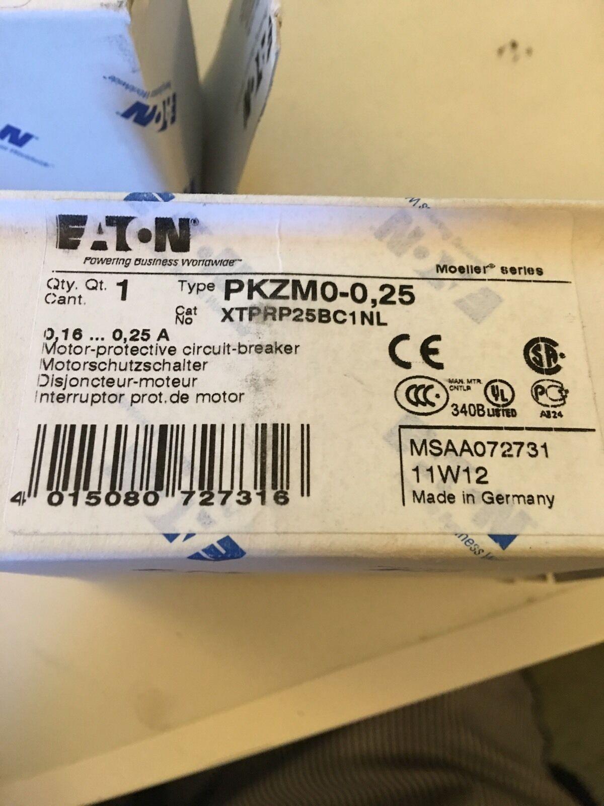 Eaton Moeller.  PKZM0-0.25 Manual Motor. Starter