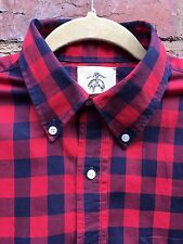 Brooks Brothers Black Fleece Made In USA Checked Shirt Mod Ivy Size BB2