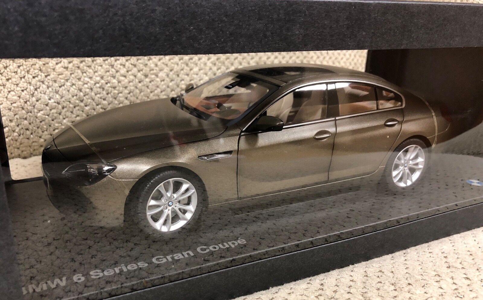 Bmw 6er gran coupé druckguss 18 bronze 650i eingefroren
