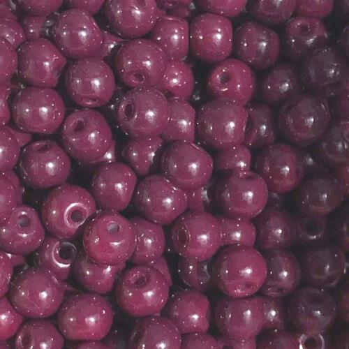 50 Stück lila purple Ø 4 mm MiPerla Glasperlen 40569