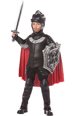 Black Knight Renaissance Medieval Warrior Child Costume