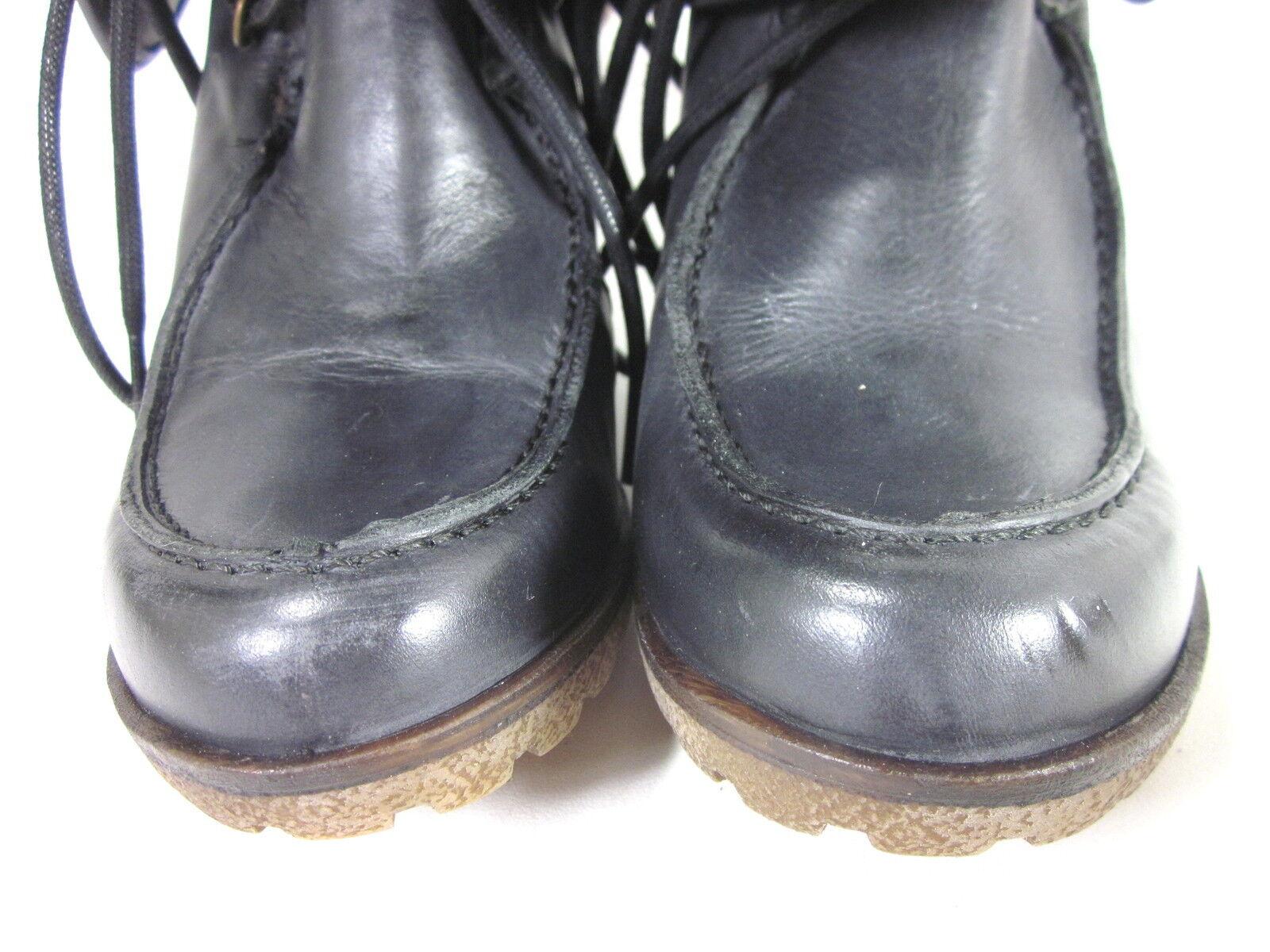 schuhe DIEM damen SD0359 SD0359 SD0359 StiefelIE GLASSE schwarzE LEATHER EUR SZ 38 US SZ 8 MEDIUM a57ac0