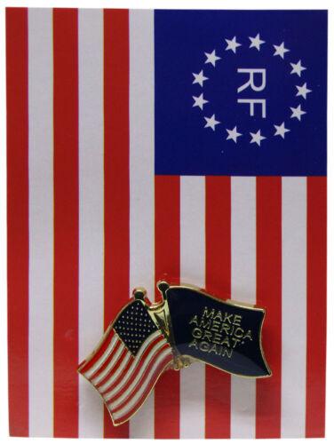 USA /& Trump Make America Great Again Blue Bike Motorcycle Hat Cap lapel Pin