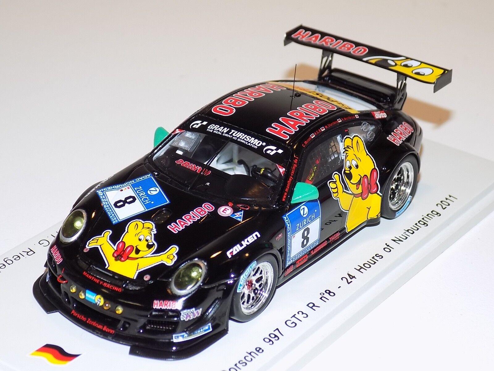 ventas de salida 1 43 Spark Porsche 911  997  GT3 GT3 GT3 R Coche  8 24 H de Nurburgring SG028  artículos de promoción