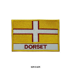 DORSET UK County Flag With Name Embroidered Iron On Patch Sew On Badge
