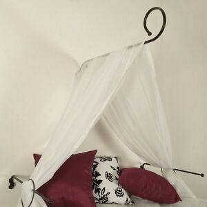 himmelbett set wei schwarz chrom baldachin himmelbettstange betthimmel stange ebay. Black Bedroom Furniture Sets. Home Design Ideas