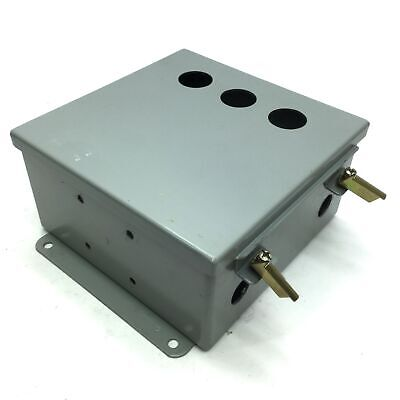 """8/""""x8/""""x4/"""" Pre-Drilled 1 NEW ONE Hoffman Enclosure Steel Junction Box A808CH"""