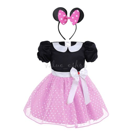 Baby Girls Princess Mouse Tutu Dress Fancy Outfits Clothes Costume Halloween