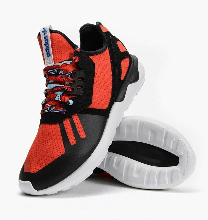 Adidas Tubular Runner Red Black White Blue running training B25952